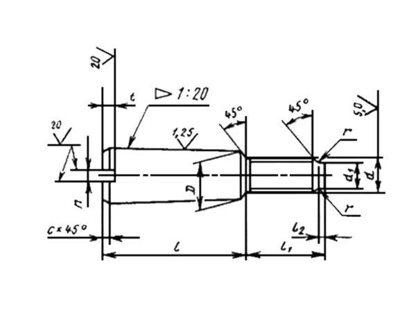 ГОСТ 15163-78 Болты конические повышенной точности.
