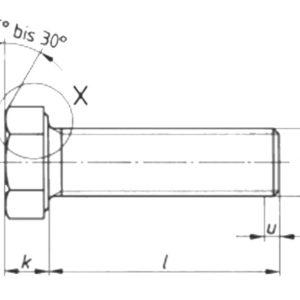 DIN 933 Шестигранные болты с резьбой до головки.