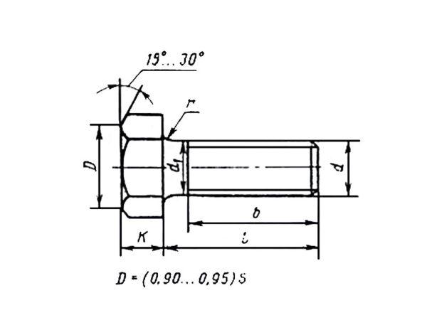 ГОСТ 22353-77 Болты высокопрочные класса точности В.
