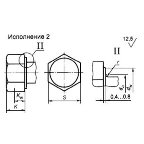 ГОСТ Р 52644-2006 (отменен) Болты высокопрочные с шестигранной головкой с увеличенным размером под ключ для металлических конструкций.