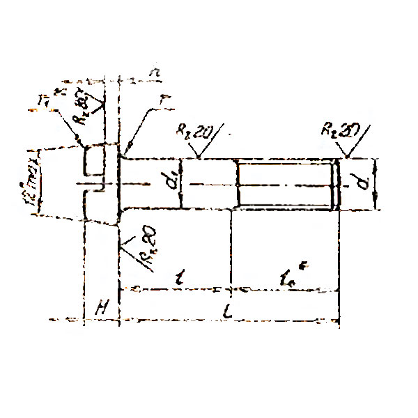 ОСТ 1 31139-80 Болты с цилиндрической головкой. Взамен нормали 3041А.