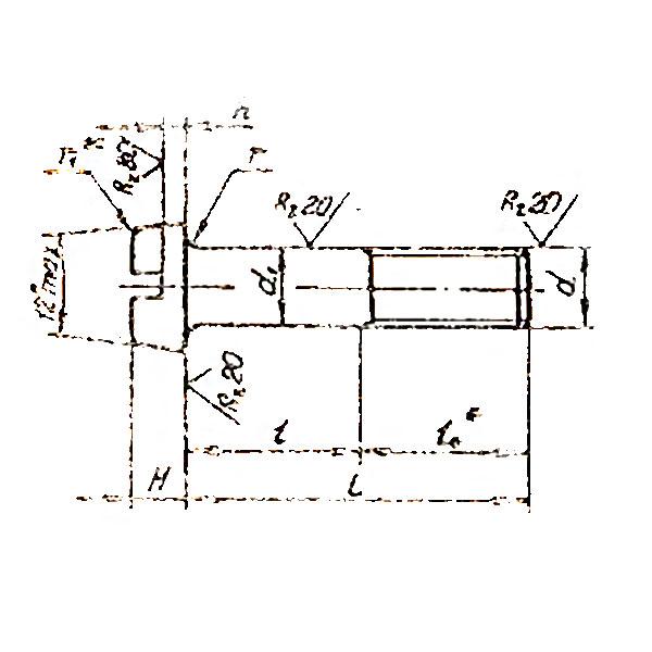 ОСТ 1 31143-80 Болты с цилиндрической головкой. Взамен нормали 3045А ант.