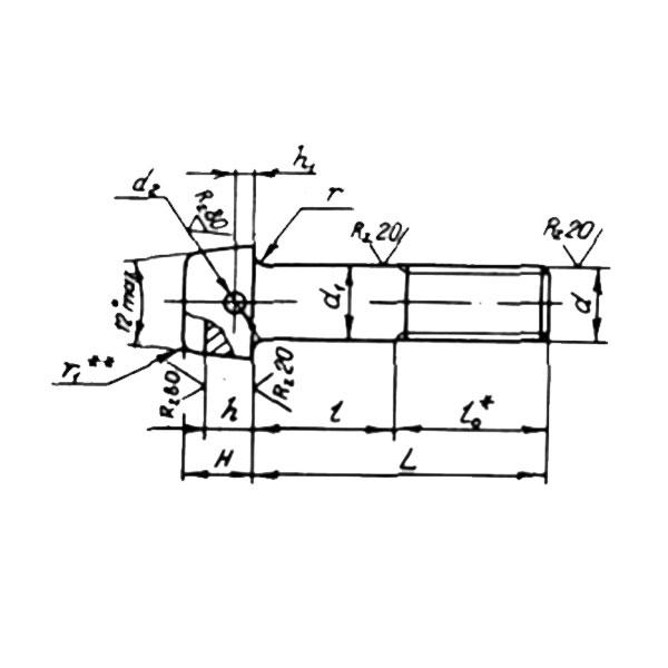 ОСТ 1 31145-80 Болты с цилиндрической головкой и отверстием для контровки в головке. Взамен 3047А.