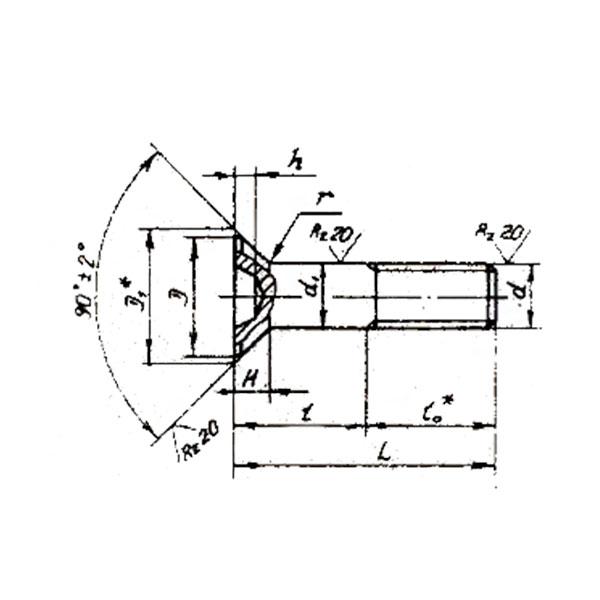 ОСТ 1 31172-80 Болты с потайной головкой углом 90 градусов и крестообразным шлицем. Взамен 3070А антимагнитная.