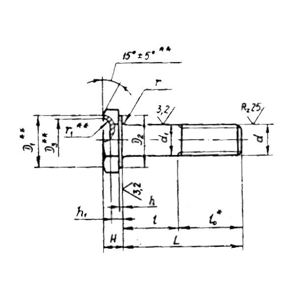 ОСТ 1 31240-86 Болты с шестигранной облегченной головкой.