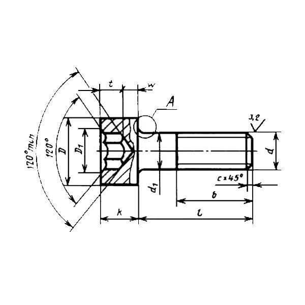 ГОСТ 11738-84 (ИСО 4762-77) Винты с цилиндрической головкой и шестигранным углублением под ключ класса точности A.