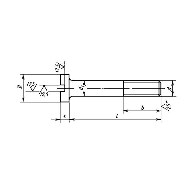 ГОСТ 1491-80 Винты с цилиндрической головкой классов точности А и В.