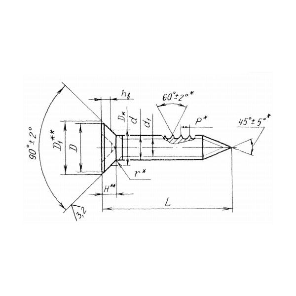 ОСТ 1 31582-91 Винты с потайной головкой с углом 90 градусов самонарезающие.