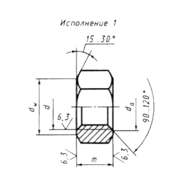 ГОСТ 5915-70 Гайки шестигранные класса точности В.