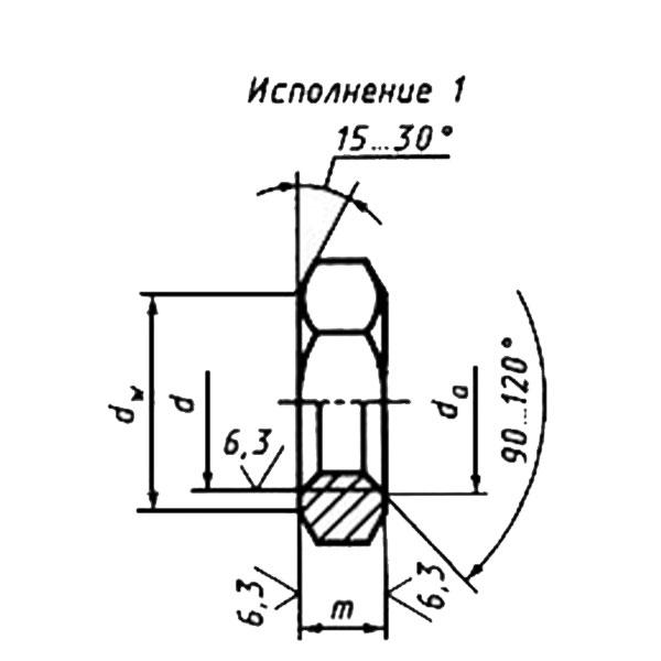 ГОСТ 5916-70 Шестигранные низкие гайки класса точности В.