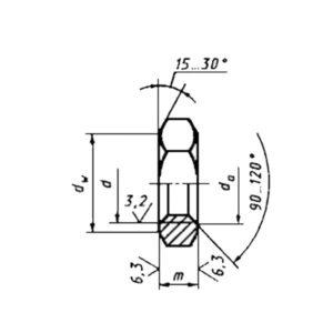 ГОСТ ISO 4035-2014 Гайки шестигранные низкие с фаской (тип 0). Классы точности А и В. (На оформлении).