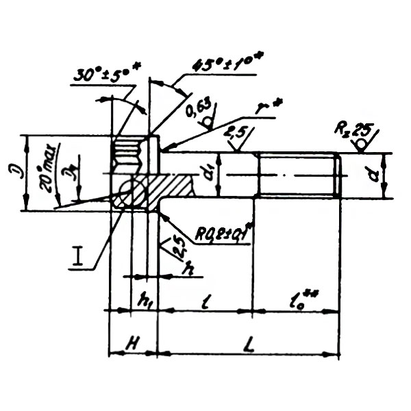 ОСТ 1 31036-78 Болты с двенадцатишлицевой головкой стыковочные.
