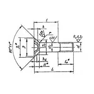 ОСТ 1 10571-72 Болты с потайной головкой углом 90 градусов с полем допуска диаметра стержня 9 из титанового сплава.