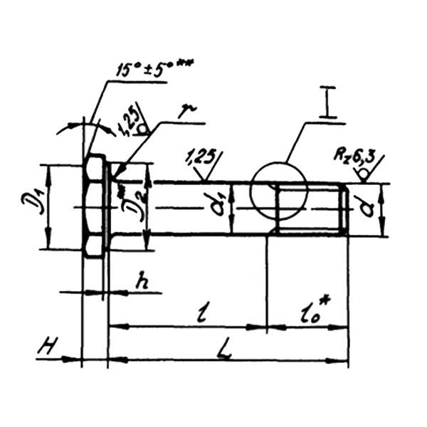 ОСТ 1 12085-77 Болты с уменьшенной шестигранной головкой из титанового сплава для соединений со специальной переходной посадкой.