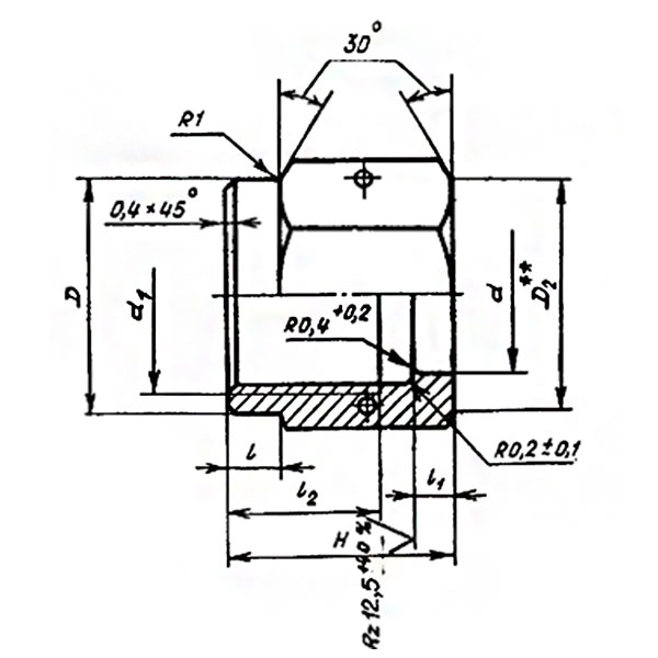 ОСТ 1 10871-72 Гайки накидные. Взамен нормали 4595А.