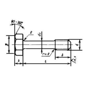 ГОСТ 10338-80 Винты с шестигранной головкой невыпадающие класса точности В.