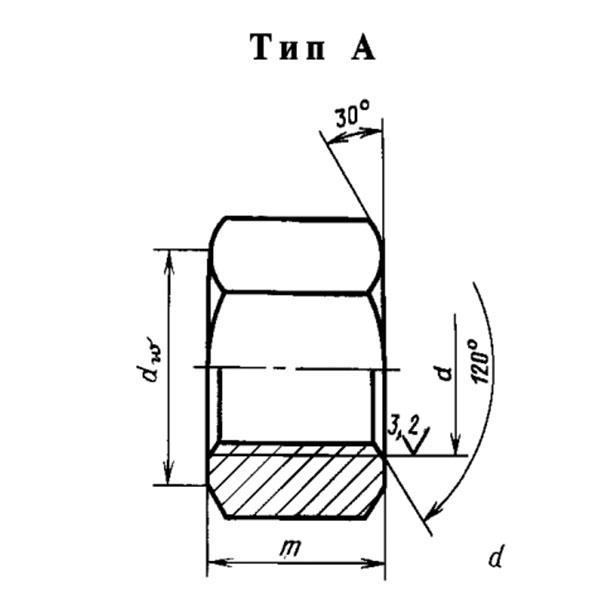 ГОСТ 9064-75 Гайки для фланцевых соединении с температурой среды от 0 до 650 с.