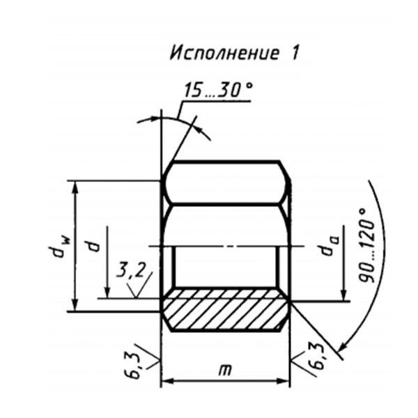 ГОСТ 15524-70 Гайки шестигранные высокие класса точности А.