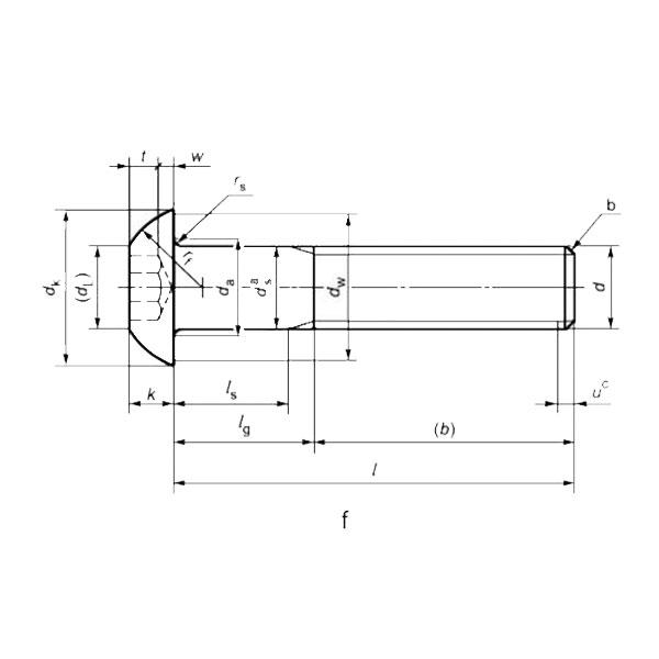 ГОСТ ISO 7380-1-2014 Винты с полукруглой головкой и шестигранным углублением. Часть 1.