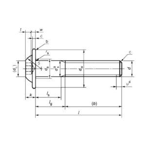 ГОСТ ISO 7380-2-2014 Часть 2. Винты с полукруглой головкой с буртом и шестигранным углублением.