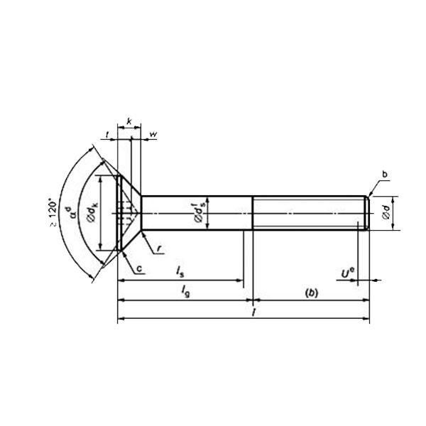 ГОСТ Р ИСО 10642-2012 Винты с потайной головкой и шестигранным углублением под ключ.