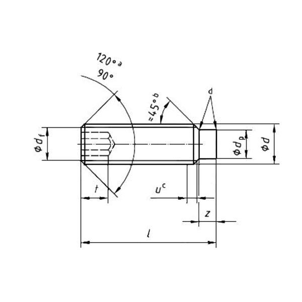 ГОСТ Р ИСО 4028-2013 Винты установочные с шестигранным углублением и цилиндрическим концом.