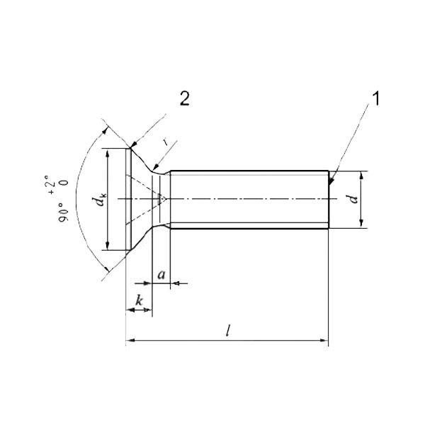 ГОСТ Р ИСО 7046-1-2013 Винты с потайной головкой и крестообразным шлицем типа Н или типа Z. Класс точности А. Часть 1. Винты стальные класса прочности 4.8