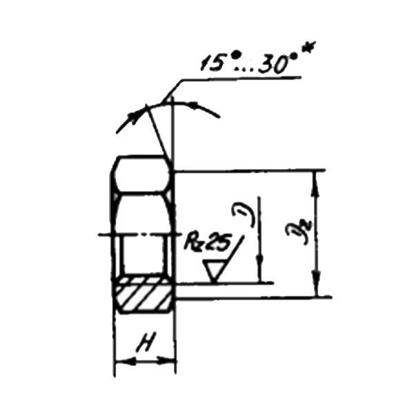 ОСТ 1 33030-80 Гайки шестигранные низкие. Взамен нормали 3313А.