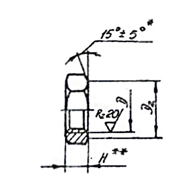 ОСТ 1 33033-80 Гайки шестигранные для не расчетных соединений и стопорения. Взамен нормали 3320А.