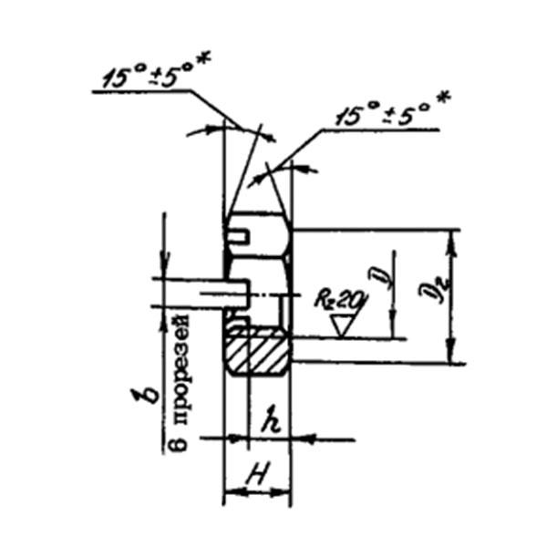 ОСТ 1 33049-80 Гайки шестигранные прорезные низкие. Взамен нормали 3342А.