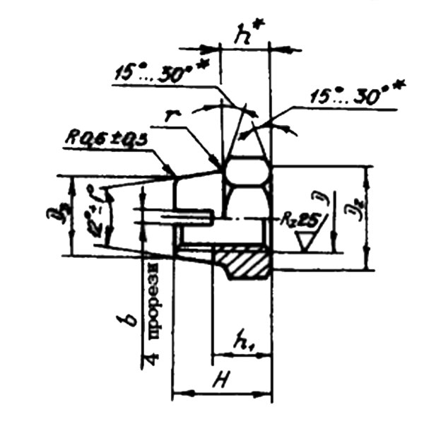 ОСТ 1 33066-80 Гайки шестигранные высокие самоконтрящиеся. Взамен нормали 3354А ант.