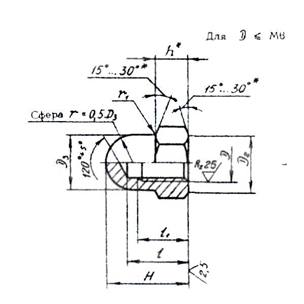 ОСТ 1 33086-80 Гайки колпачковые высокие. Взамен нормали 707М.