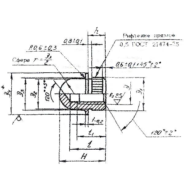 ОСТ 1 33087-80 Гайки колпачковые для запресовки. Взамен нормали 1196А54.