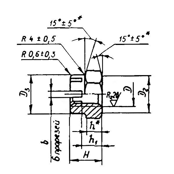 ОСТ 1 33108-86 Гайки шестигранные корончатые усиленные. Взамен нормали 3326А.