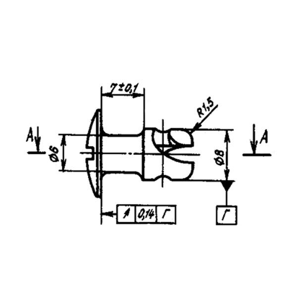 ОСТ 1 11064-73 Винт с плоско-выпуклой головкой.