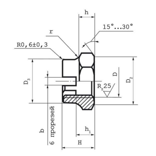 ОСТ 1 33103-82 Гайки шестигранные корончатые усиленные. (На оформлении).