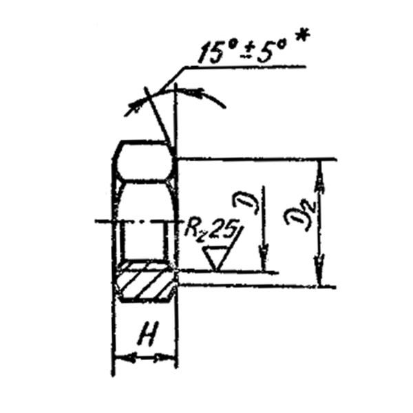 ОСТ 1 33206-89 Гайки шестигранные низкие.
