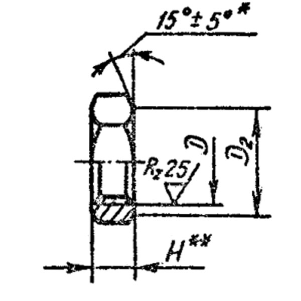 ОСТ 1 33212-89 Гайки шестигранные для нерасчетных соединений и стопорения.