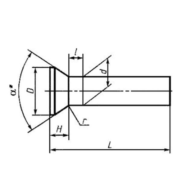 ГОСТ 10300-80 Заклепки с потайной головкой общемашиностроительного применения