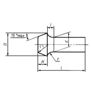 ГОСТ 10303-80 Заклепки с плоской головкой общемашиностроительного применения