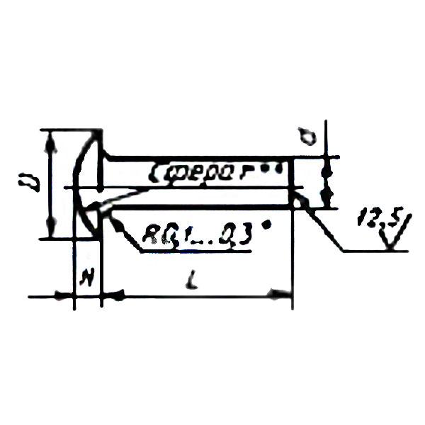ГОСТ 14800-85 Заклепки с плосковыпуклой головкой (повышенной точности)