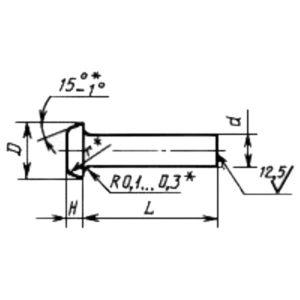 ГОСТ 14801-85 Заклепки с плоской головкой (повышенной точности)