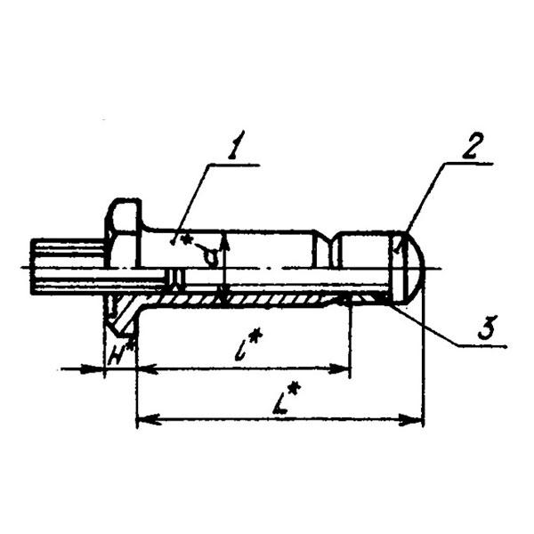 ОСТ 1 11200-73 Заклепки высокого сопротивления срезу с шестигранной головкой из конструкционной стали для односторонней клепки. Взамен нормали 5901А.