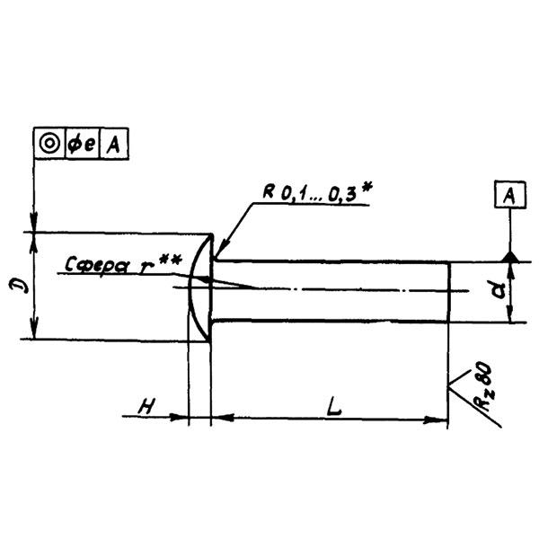 ОСТ 1 11781-74 Заклепки с уменьшенной плоско-выпуклой головкой
