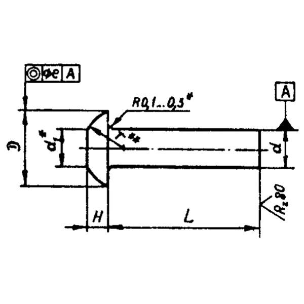 ОСТ 1 34080-85 Заклепки с плоско-скругленной головкой