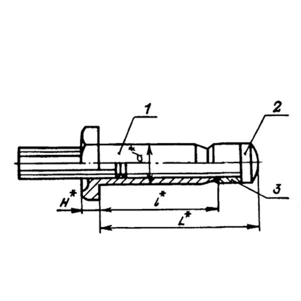 ОСТ 1 10809-72 Заклепки высокого сопротивления срезу с шестигранной головкой из коррозионностойкой стали для односторонней клепки