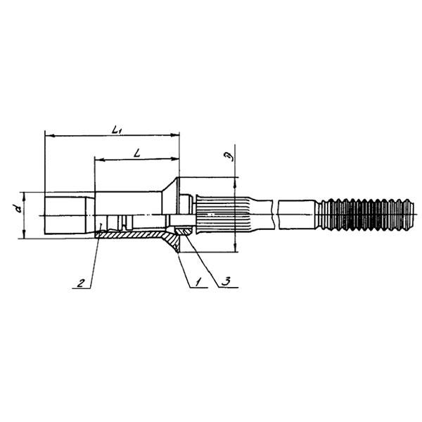 ОСТ 1 30025-78 Заклепка с потайной головкой