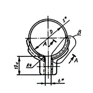 ГОСТ 17679-80 Тип 1 Хомуты облегченные для крепления трубопроводов и кабелей