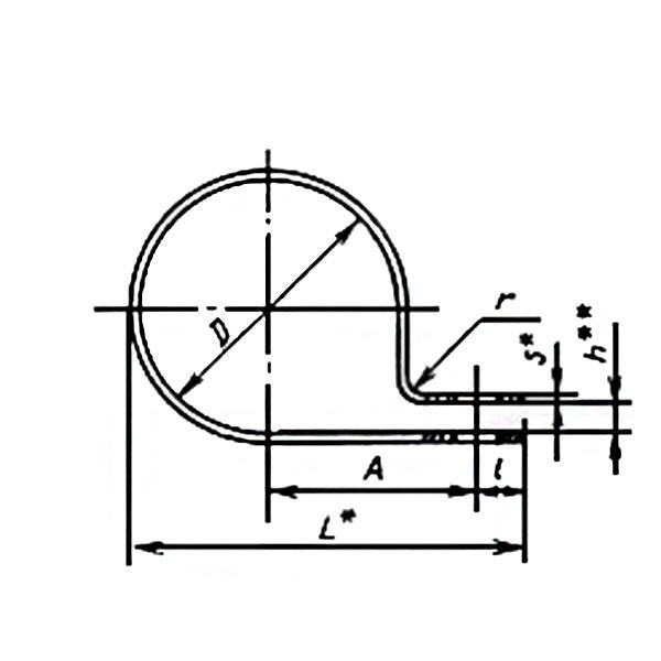 ГОСТ 17679-80 Тип 3 Хомуты облегченные для крепления трубопроводов и кабелей