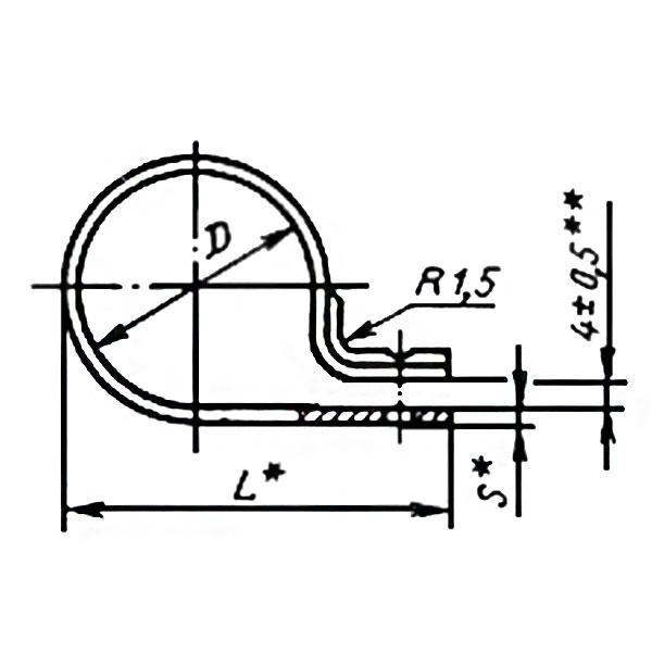 ГОСТ 17679-80 Тип 6 Хомуты облегченные для крепления трубопроводов и кабелей